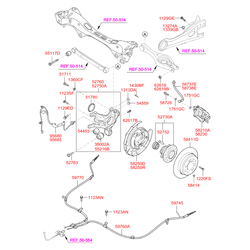 Датчик АБС (Hyundai-KIA) 599102H300
