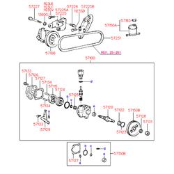 Ремкомплект насоса ГУР (Hyundai-KIA) 5715034A00