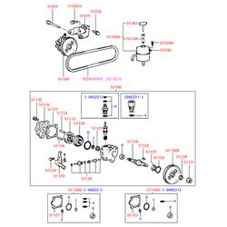 Набор прокладок масляного насоса (Hyundai-KIA) 5715033600