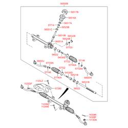 Втулка реечного рулевого механизма (Hyundai-KIA) 565223X000