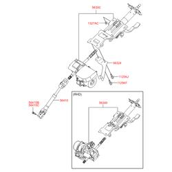 Карданный вал рулевой колонки (Hyundai-KIA) 564002L000
