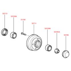 Подшипник шариковый (Hyundai-KIA) 5272024000