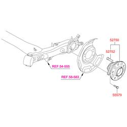 Ступица колеса (Hyundai-KIA) 527103X000