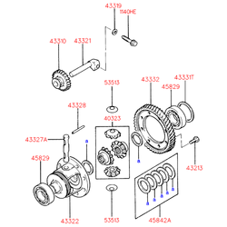 Подшипник дифференциала (Hyundai-KIA) 4582936040
