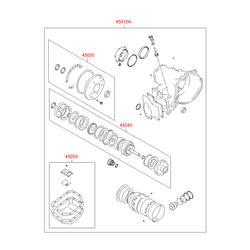 Набор прокладок КПП (Hyundai-KIA) 4505025A00