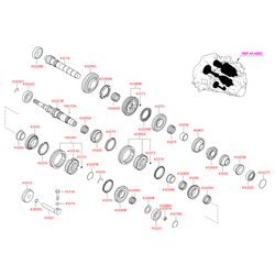 Упорное кольцо КПП (Hyundai-KIA) 4322728460