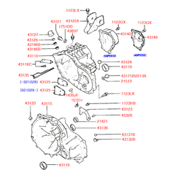 Крышка МКПП (Hyundai-KIA) 4314034003