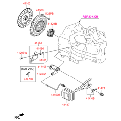Вилка сцепления (Hyundai-KIA) 4143023200