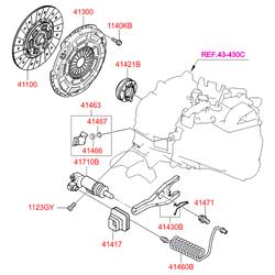 Комплект сцепления (Hyundai-KIA) 4110032001