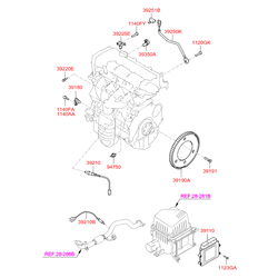 Датчик детонации двигателя (Hyundai-KIA) 3925023900