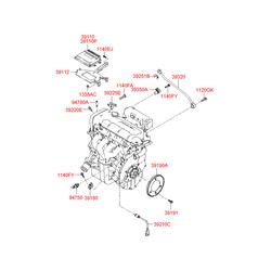 Датчик температуры топлива (Hyundai-KIA) 3922023990