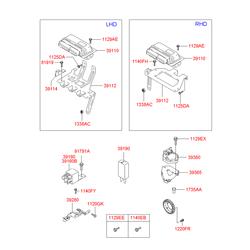 Реле 12В, 1.5А (Hyundai-KIA) 3916022050
