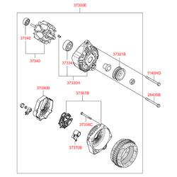 Регулятор генератора (Hyundai-KIA) 373702A020