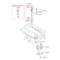 Прокладка выпускного коллектора двигателя (Hyundai-KIA) 367502A100