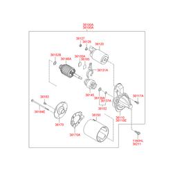 Бендикс стартера (Hyundai-KIA) 361452B110