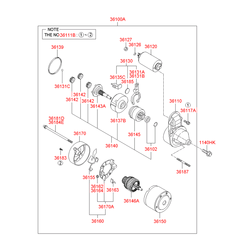 Бендикс стартера (Hyundai-KIA) 3614023171
