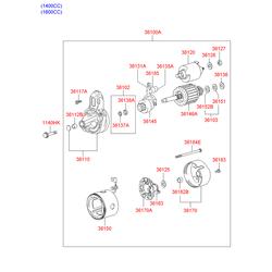 Втягивающе пусковое устройство стартера (Hyundai-KIA) 361202A100