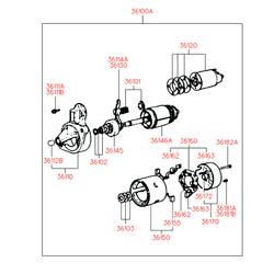 Выключатель стеклоподъемника (Hyundai-KIA) 3612011130