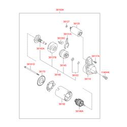 Стартер (Hyundai-KIA) 3610023171