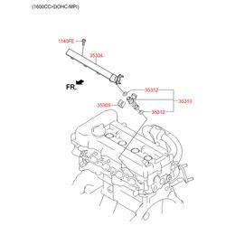 Топливная форсунка (Hyundai-KIA) 353102B020