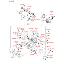 Прокладка дроссельной заслонки (Hyundai-KIA) 351502A000