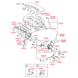Дроссельная заслонка в сборе (Hyundai-KIA) 351002B060