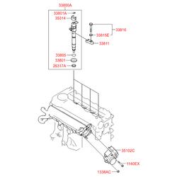 Клапан контроля системы рециркуляции выхлопных газов (Hyundai-KIA) 351002A900