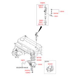 Дроссельная заслонка в сборе (Hyundai-KIA) 351002A810