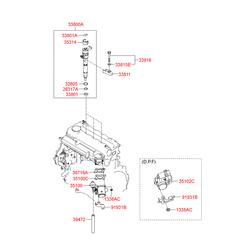 Дроссельная заслонка в сборе (Hyundai-KIA) 351002A800
