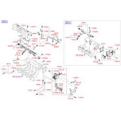 Корпус дроссельной заслонки (Hyundai-KIA) 3510023500