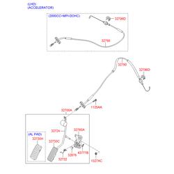 Пластиковая накладка педали акселератора газа (Hyundai-KIA) 327302H000