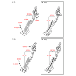 Педаль акселератора (газа) (Hyundai-KIA) 327003X110