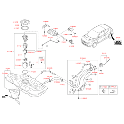Топливный бак (Hyundai-KIA) 311502V100