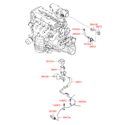 Клапан вентиляции картера ДВС (Hyundai-KIA) 2891026900