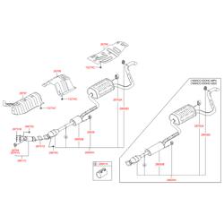 Глушитель в сборе (Hyundai-KIA) 286103X150