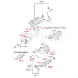 Выхлопная труба (Hyundai-KIA) 286102H000