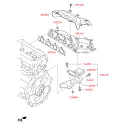 Каталитический нейтрализатор выхлопных газов (Hyundai-KIA) 285102BEF1