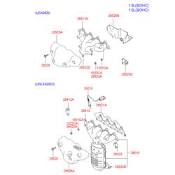 Катализатор (Hyundai-KIA) 2851026670