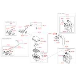 Воздуховод отопления салона (Hyundai-KIA) 282103X010