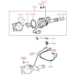 Ротор распределителя зажигания (Hyundai-KIA) 2713132810