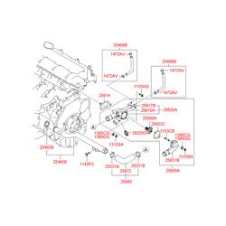 Ниппель температурного контройлера с резьбой (Hyundai-KIA) 2561723501