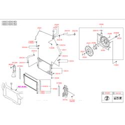 Кожух радиатора (Hyundai-KIA) 253503X000