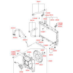 Вентилятор радиатора двигателя (Hyundai-KIA) 252312D000