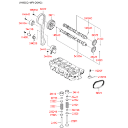 Цепь привода распредвала (Hyundai-KIA) 243512A000