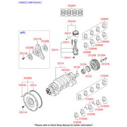 Поршень двигателя с пальцем (Hyundai-KIA) 2341027901