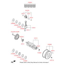 Маховик двигателя (Hyundai-KIA) 232002A701