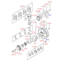 Маховик двигателя (Hyundai-KIA) 2320026001