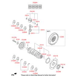 Кольца поршневые (Hyundai-KIA) 230402B001
