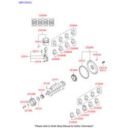 Кольца поршневые (Hyundai-KIA) 2304026101