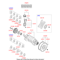 Кольца поршневые (Hyundai-KIA) 2304023400